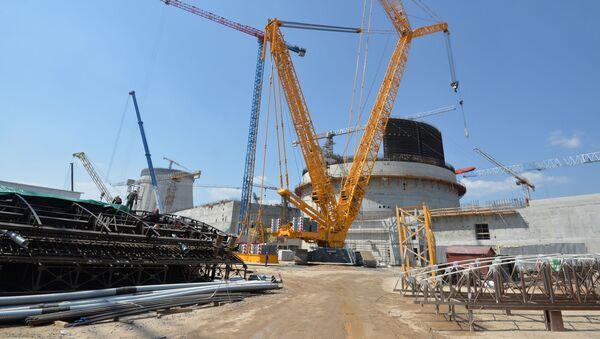 Budowa elektrowni atomowej w Ostrowcu na Białorusi - Sputnik Polska