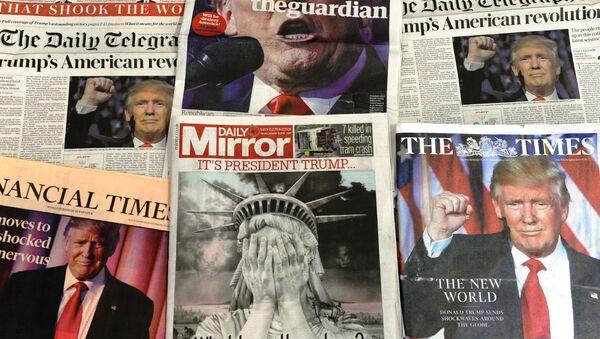 Okładki brytyjskich gazet - Sputnik Polska