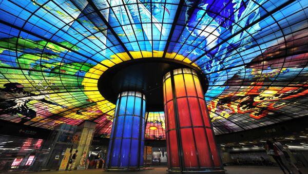 Stacja metra Formosa Boulevard Station, Tajwan - Sputnik Polska