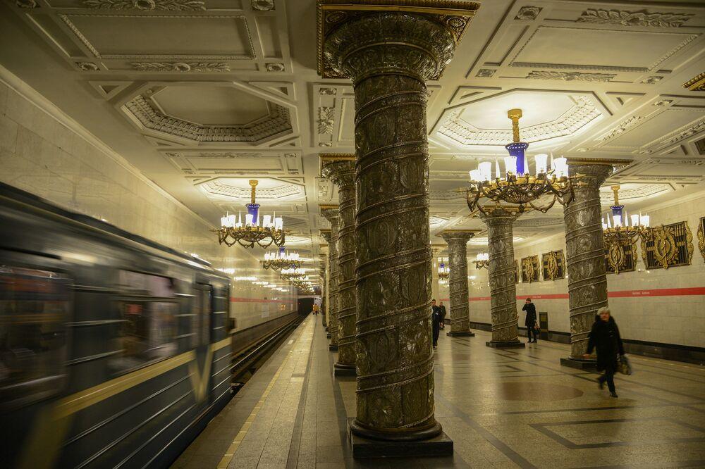 Stacja Awtowo, Petersburg, Rosja