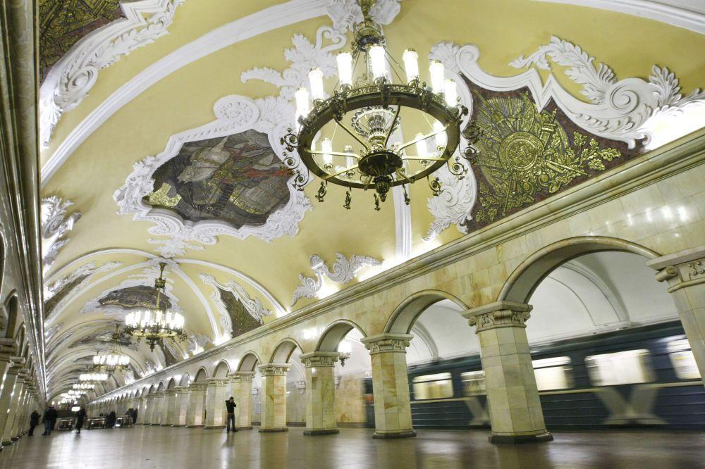 Stacja Komsomolskaja moskiewskiego metra, Rosja