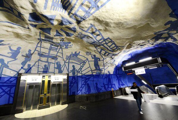 Stacja T-Centralen, Sztokholm, Szwecja - Sputnik Polska