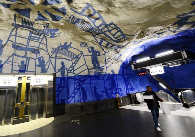 Stacja T-Centralen, Sztokholm, Szwecja