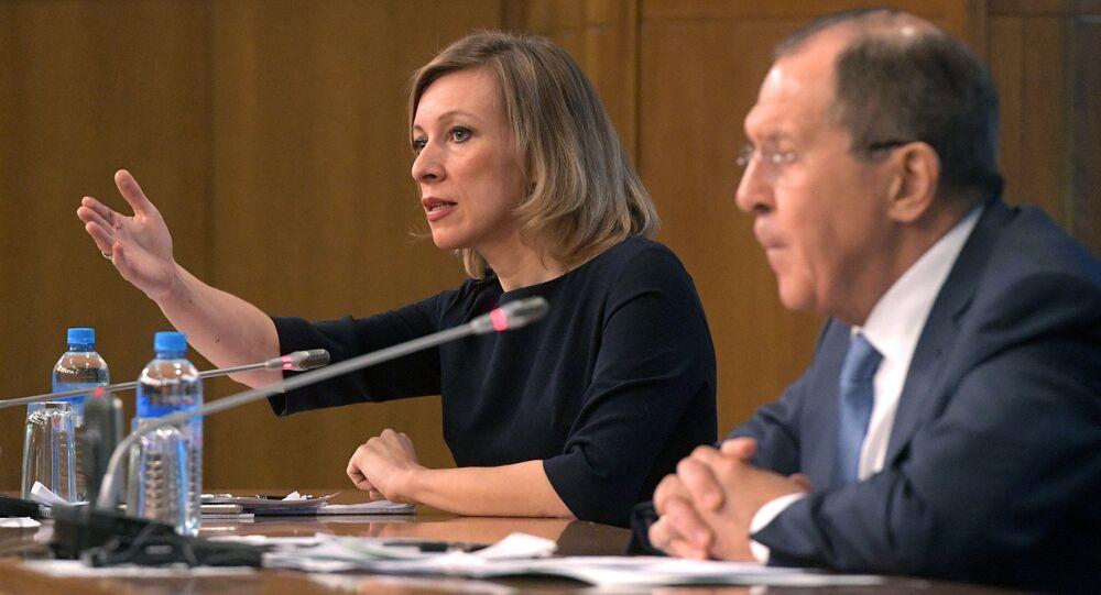 Maria Zacharowa i Siergiej Ławrow