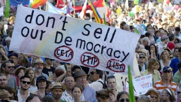 Akcja antyglobalistów w Monachium przeciwko szczytowi G7 - Sputnik Polska