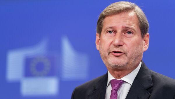 Komisarz europejski ds. Europejskiej Polityki Sąsiedztwa i negocjacji akcesyjnych Johannes Hahn - Sputnik Polska