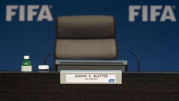 Pusty fotel przewodniczącego FIFA Josepha Blattera - Sputnik Polska