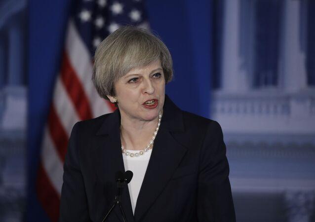Premier Wielkiej Brytanii Theresa May podczas swojej wizyty w USA