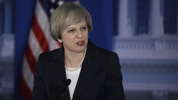 Premier Wielkiej Brytanii Theresa May podczas swojej wizyty w USA - Sputnik Polska