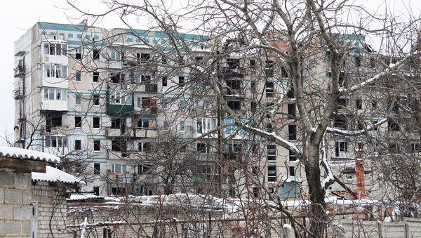 Rozwalony blok na jednej z ulic Doniecka - Sputnik Polska