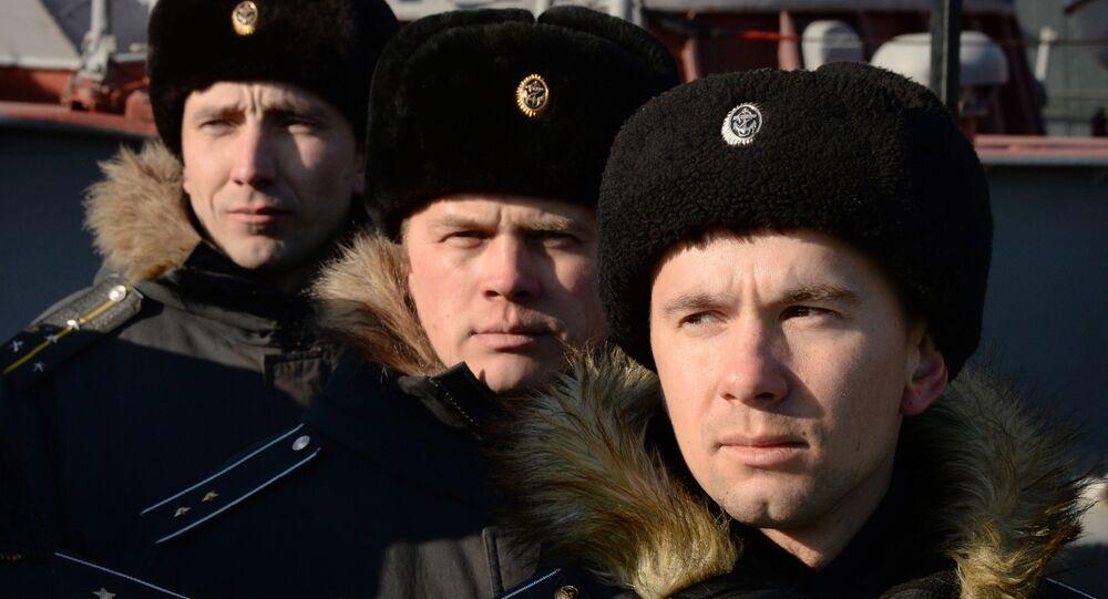 Marynarze rosyjskiej floty podwodnej