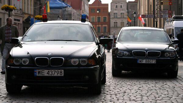 Samochody funkcjonariuszy BOR-u - Sputnik Polska