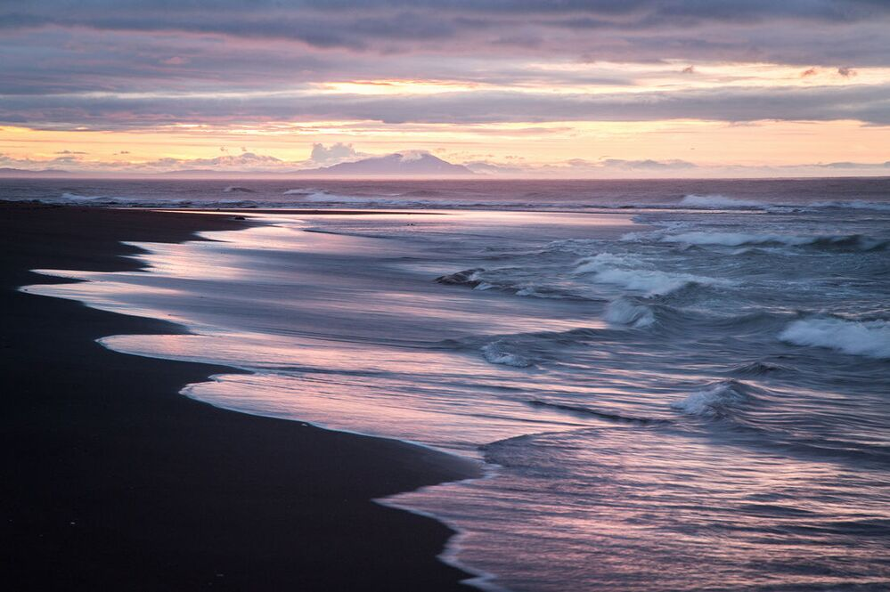 Brzeg Oceanu Spokojnego na Kamczatce