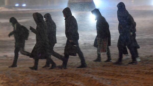 Śnieżyca w Moskwie - Sputnik Polska