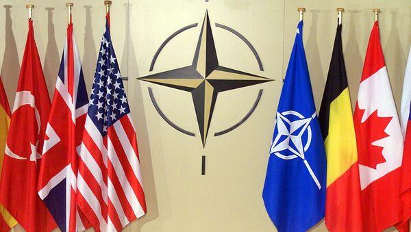 National flags in NATO headquarters in Brussels (File) - Sputnik Polska