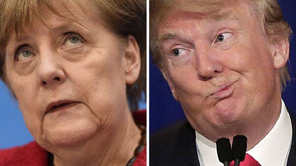 Angela Merkel i Donald Trump - Sputnik Polska