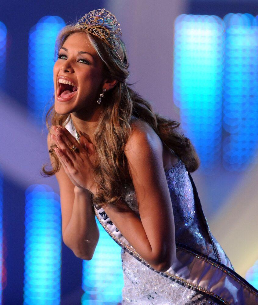 Zwyciężczyni konkursu Miss Universe 2008 Dayana Mendoza z Wenezueli