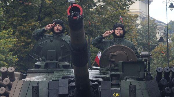 Polscy czołgiści, obchody Dnia Wojska Polskiego, 2016 rok - Sputnik Polska