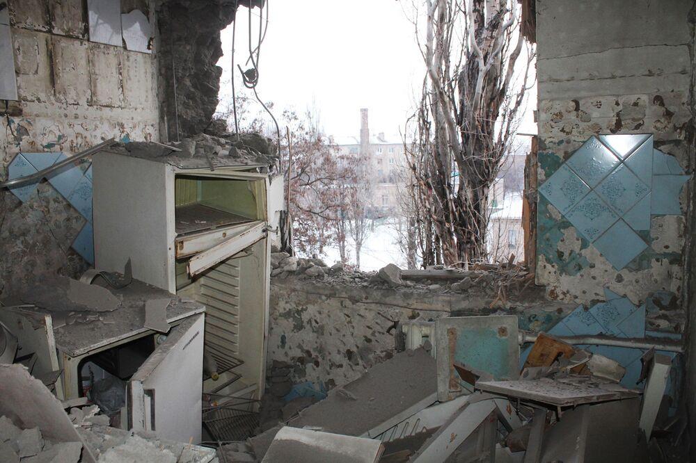 Donieck po ostrzale ukraińskich sił zbrojnych