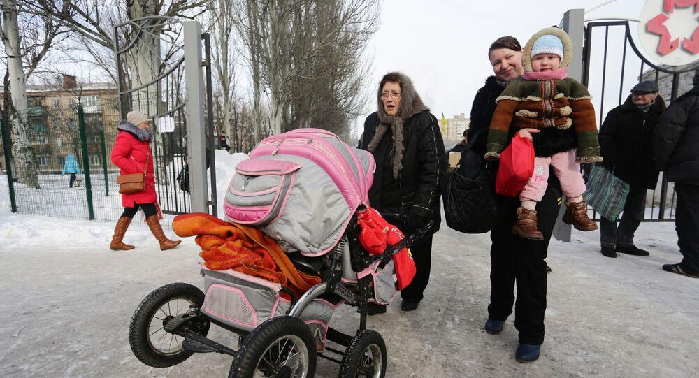 Mieszkańcy czekają na ewakuację z Awdijiwki