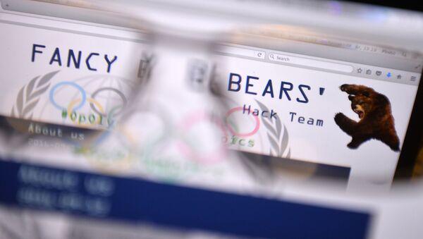 Strona internetowa grupy hakerów Fancy Bears, na której opublikowano dane na temat spisku USA i Kanady przeciwko Międzynarodowemu Komitetowi Olimpijskiemu - Sputnik Polska