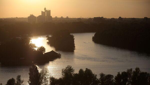 Rzeka Sawa wpada do Dunaju w Belgradzie - Sputnik Polska