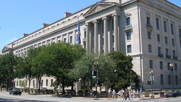 Siedziba Departamentu Sprawiedliwości Stanów Zjednoczonych w Waszyngtonie - Sputnik Polska