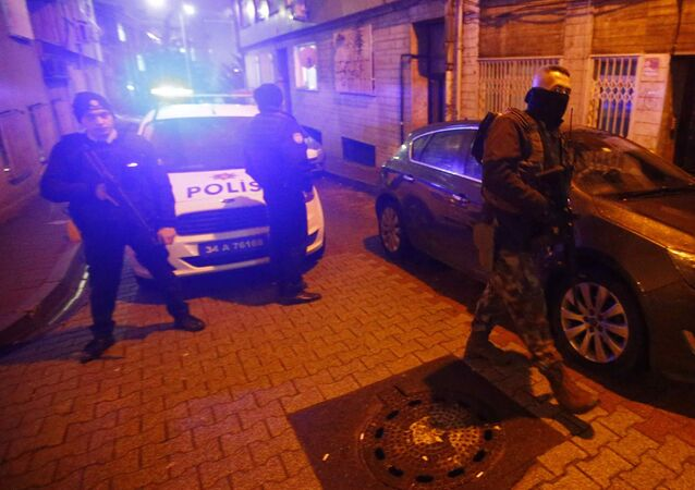 Turecka policja w Stambule