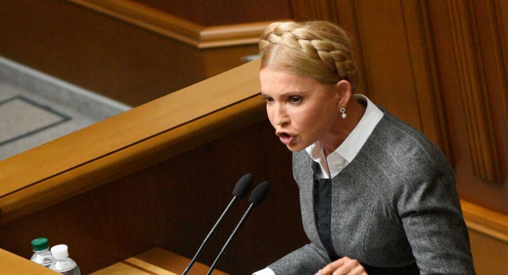 Lider partii Batkiwszczyna Julia Tymoszenko