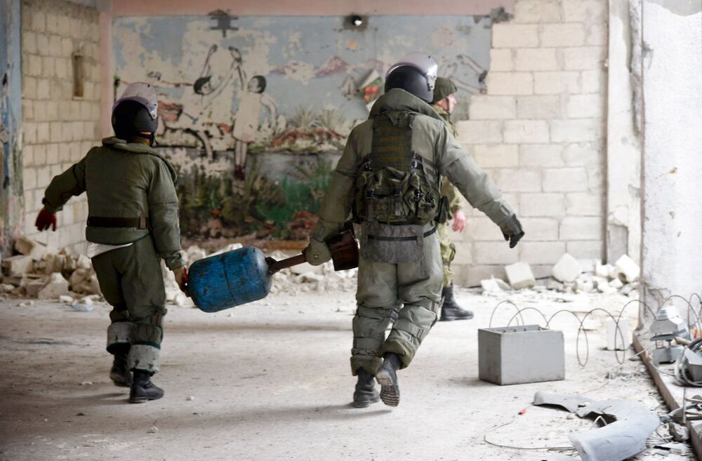 Ciężka prawa rosyjskich saperów w Aleppo