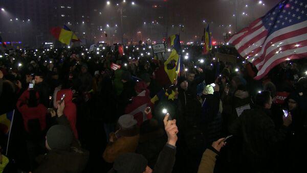 Mieszkańcy Bukaresztu skandowali Dymisja! - Sputnik Polska
