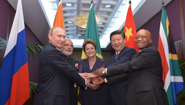 Liderzy państw BRICS - Sputnik Polska