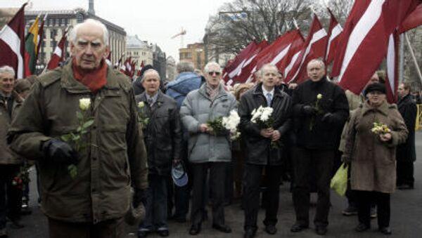 Marsz legionistów Waffen SS i ich zwolenników w Rydze - Sputnik Polska
