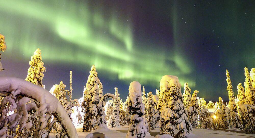 Zorza polarna w Finlandii