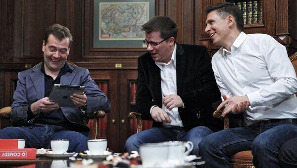 Dmitrij Miedwiediew spotkał się z uczestnikami projektu Comedy club - Sputnik Polska