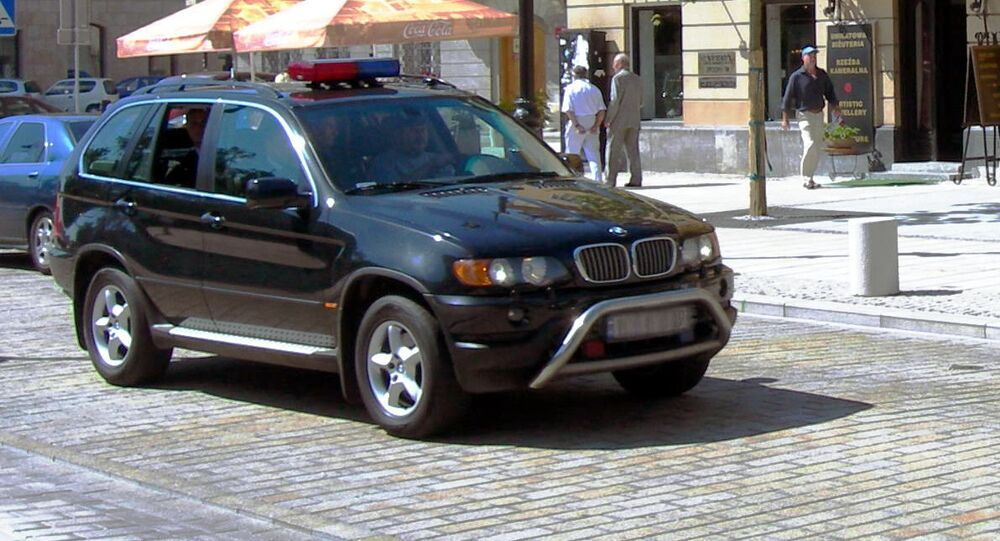 Samochód funkcjonariuszy BOR-u