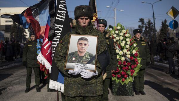 Pogrzeb zamordowanego dowódcy batalionu Somali Michaiła Tołstycha - Giwi - Sputnik Polska