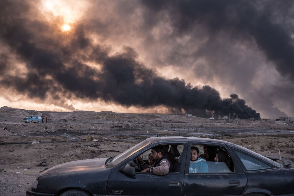 Zdjęcie Wojna o irackie miasta. Autor: Sergey Ponomarev. Drugie miejsce w kategorii Wydarzenia - zdjęcie pojedyncze.