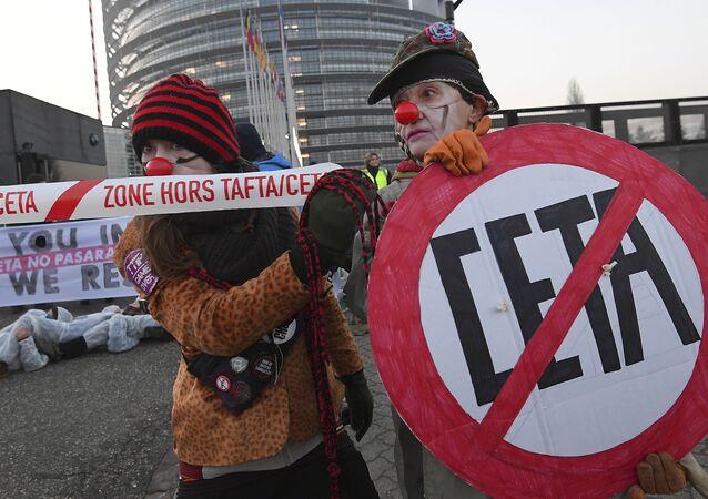 Protesty przeciwko CETA