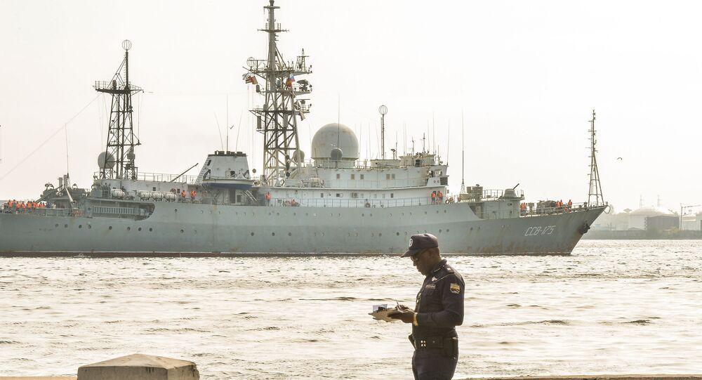 Rosyjski okręt zwiadowczy Wiktor Leonow
