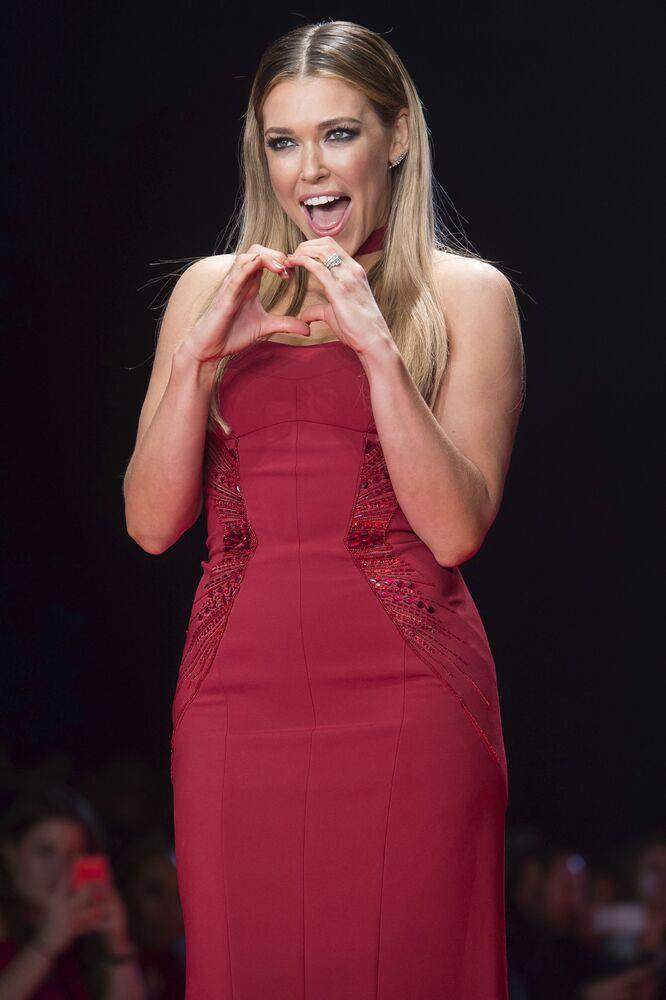 Wokalistka Rachel Platten podczas Tygodnia Mody w Nowym Jorku