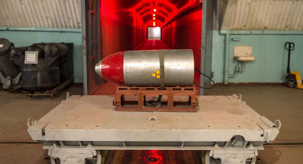 Ładunek nuklearny w kompleksie muzealnym Bałakława