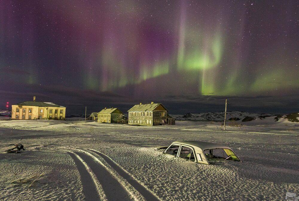 Zdjęcie Noc polarna. Autor: Witalij Tieriechow. Kategoria: Natura