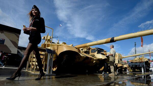T-90MS został zaprezentowany w 2011 roku na poligonie w Niżnym Tagile podczas VIII Międzynarodowej Wystawy Broni Russian Expo Arms - Sputnik Polska