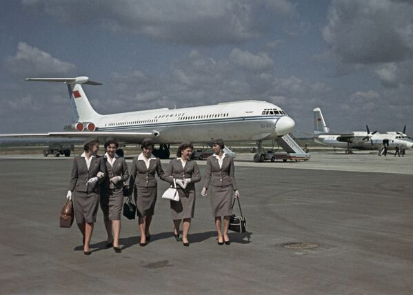 Podniebne piękności Aeroflotu - Sputnik Polska