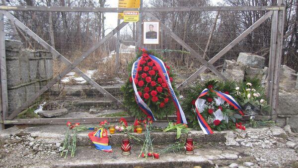 Miejsce, w którym stał pomnik generała Iwana Czerniachowskiego w Pieniężnie - Sputnik Polska