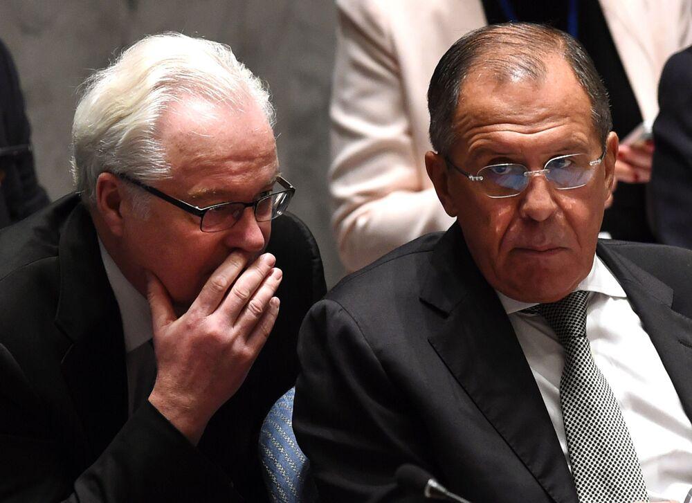 """20 marca 214 roku Witalij Czurkin wezwał USA, by przestały obrzucać Rosję obelgami, jeśli chcą współpracy. Ambasador USA Samantha Power, poruszając temat przyłączenia Krymu do Rosji, oznajmiła: """"Złodziej może ukraść własność, ale nie daje mu to prawa do jej posiadania"""". W odpowiedzi Czurkin oznajmił: """"Kategorycznie nie tolerujemy znieważających wypowiedzi pod adresem naszego kraju"""". Jednocześnie rosyjski ambasador dodał: """"Jeśli delegacja USA liczy na naszą współpracę w Radzie Bezpieczeństwa w innych kwestiach, pani Power powinna dobrze to zapamiętać""""."""