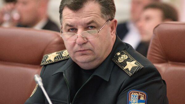Minister obrony Ukrainy Stepan Połtorak na posiedzeniu Rady Ministrów Ukrainy w Kijowie - Sputnik Polska