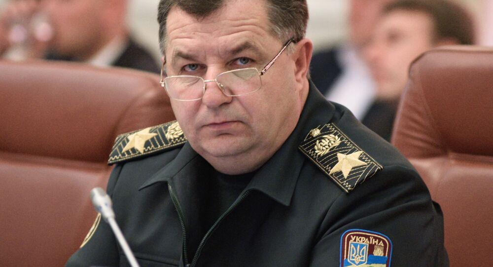 Minister obrony Ukrainy Stepan Połtorak na posiedzeniu Rady Ministrów Ukrainy w Kijowie