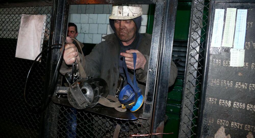 Górnicy w kopalni Makiejewugol